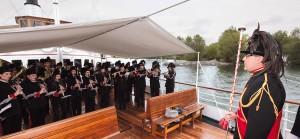 Die Bürgermusik Hard spielt an Bord der Hohentwiel zum 100-Jahr-Festakt © Arno Meusburger