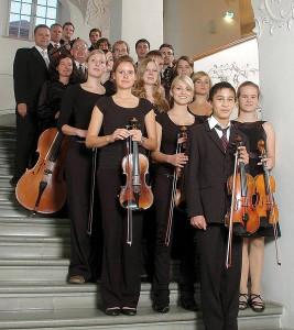 """Konzertensemble """"Il Giardino"""" unter der Leitung von Prof. Rudolf Rumpf © Arno Meusburger"""