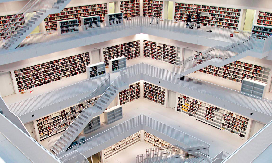 Stadtbibliothek Stuttgart © Kraufmann/Harms, Stadt Stuttgart