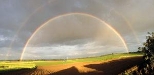 Doppelter Regenbogen von Herbertingen