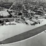 Luftaufnahme Harder Bucht nach der Sanierung um 1968