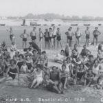 Badeleben auf der Sandinsel, Sommer 1928